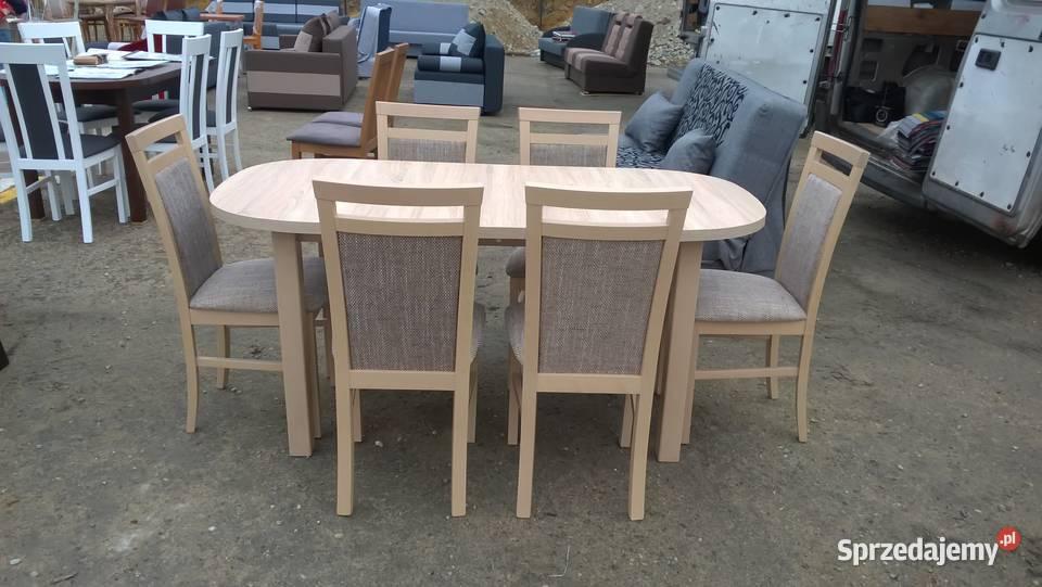 Zestaw,Stół 80/160/200 + 6 Krzeseł -Promocja!