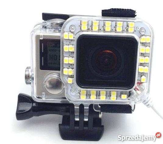 Tuto Go Pro Lampa, nakładka LED Go Pro potężna nowa !!!
