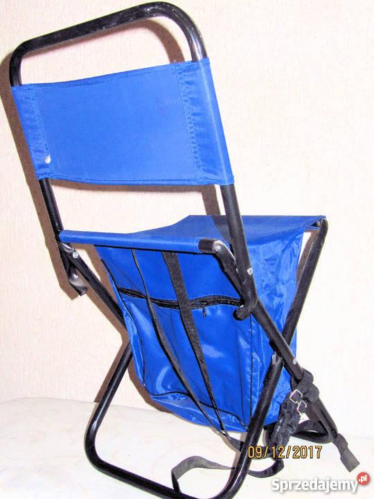 Krzesełko wędkarskie z oparciem i plecakiem Nysa sprzedam
