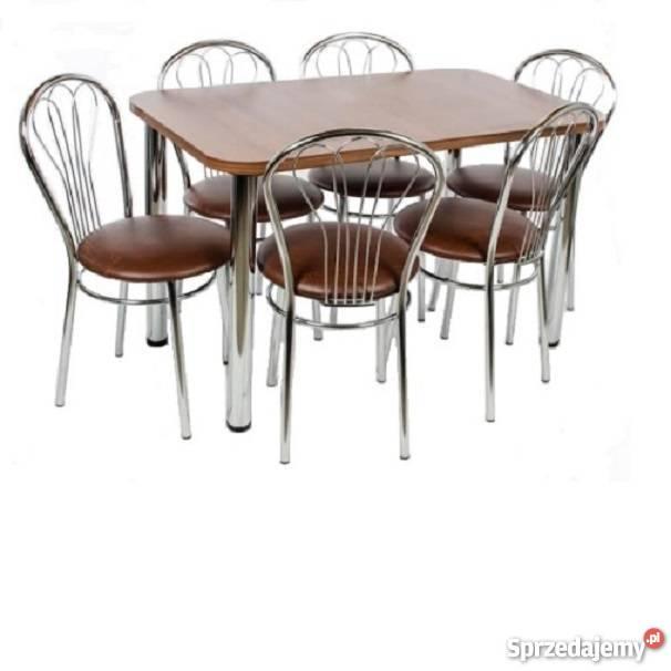 krzesła stół metalowe kuchenne wenus