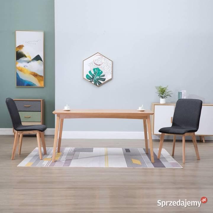 vidaXL Krzesła do jadalni, 2 szt., szare, tkanina i 248912
