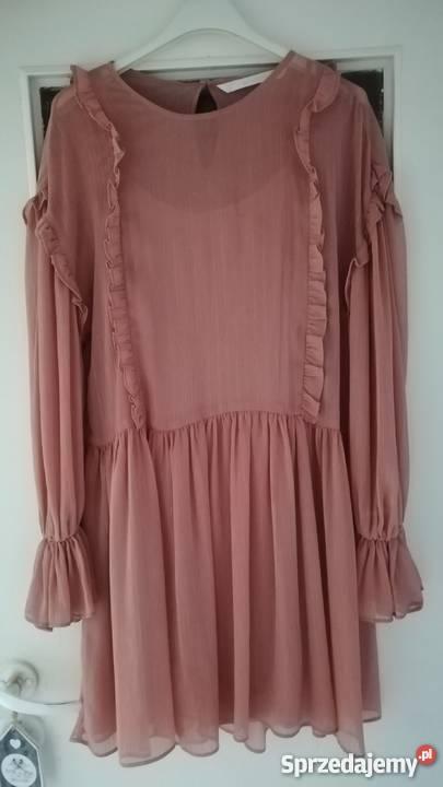 Sukienka falbany Zara