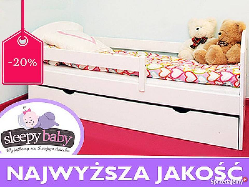 ko dla dziecka drewniane sosna 160x80 materac szuflada krak w. Black Bedroom Furniture Sets. Home Design Ideas