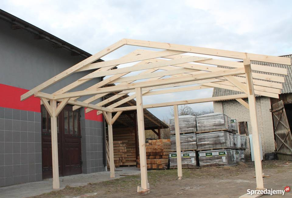Konstrukcja Altany 5x4m Wiata Zadaszenie Pergola Domek Garaż