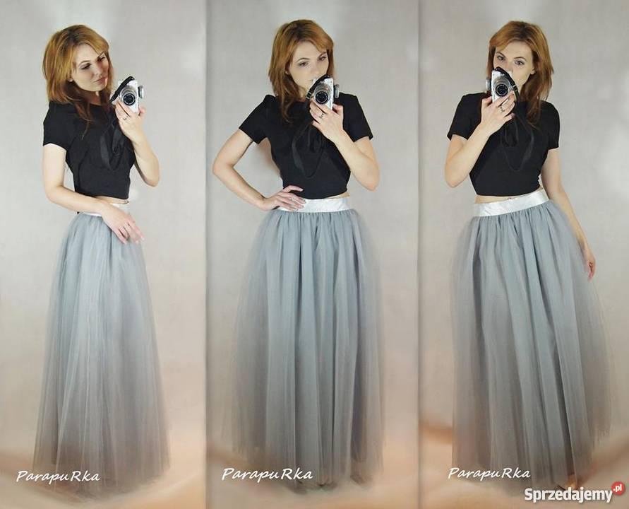 09a4be13 Tiulowa spódnica maxi 7 warstw na miarę suwak kolory