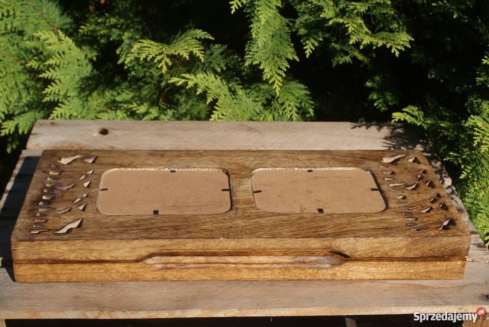 Duża drewniana ramka na zdjęcia motyw w słonie Warszawa sprzedam