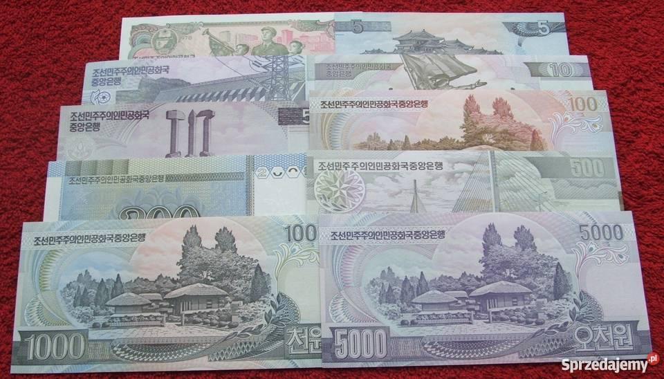 KOREA Kolekcjonerskie Banknoty Zestaw 10 sztuk Katowice