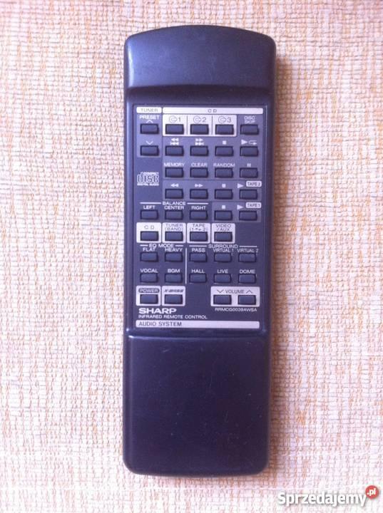 Oryginalny pilot Sharp RRMCG0039AWSA - wieża audio