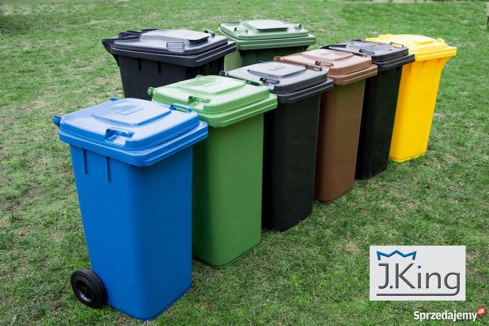 Nietypowy Okaz Pojemnik Kosz na śmieci odpady 120L NOWY RÓŻNE KOLORY TANIO IA44