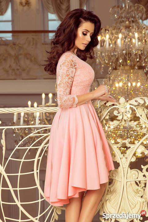 40e28931cfc6ea JOKA NICOLLE sukienka pastelowy róż koronka S M L XL XXL Mykanów ...