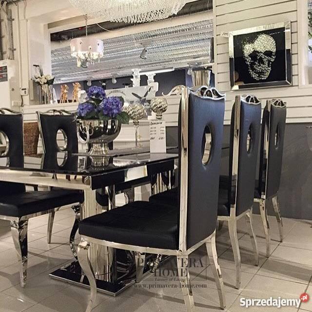 Krzesło Tapicerowane Stal Nowoczesne Glamour Vito Biała Podlaska