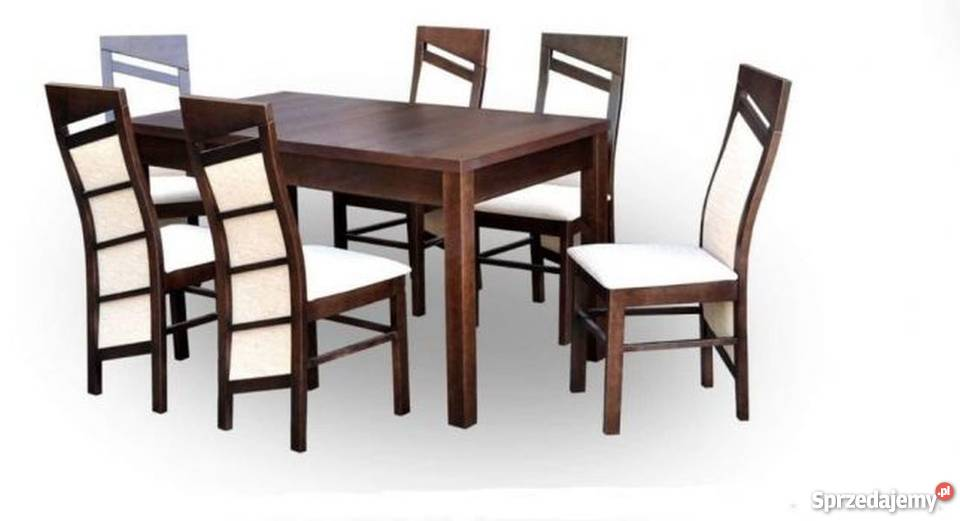 Super zestaw stół rozkładany 80x120+40cm i 6 krzeseł TANIO!!