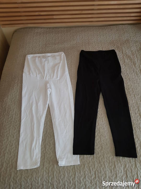44937086fb5e6b Legginsy ciążowe HM MAMA rozmiar S czarne białe Rozmiar 36(S) sprzedam