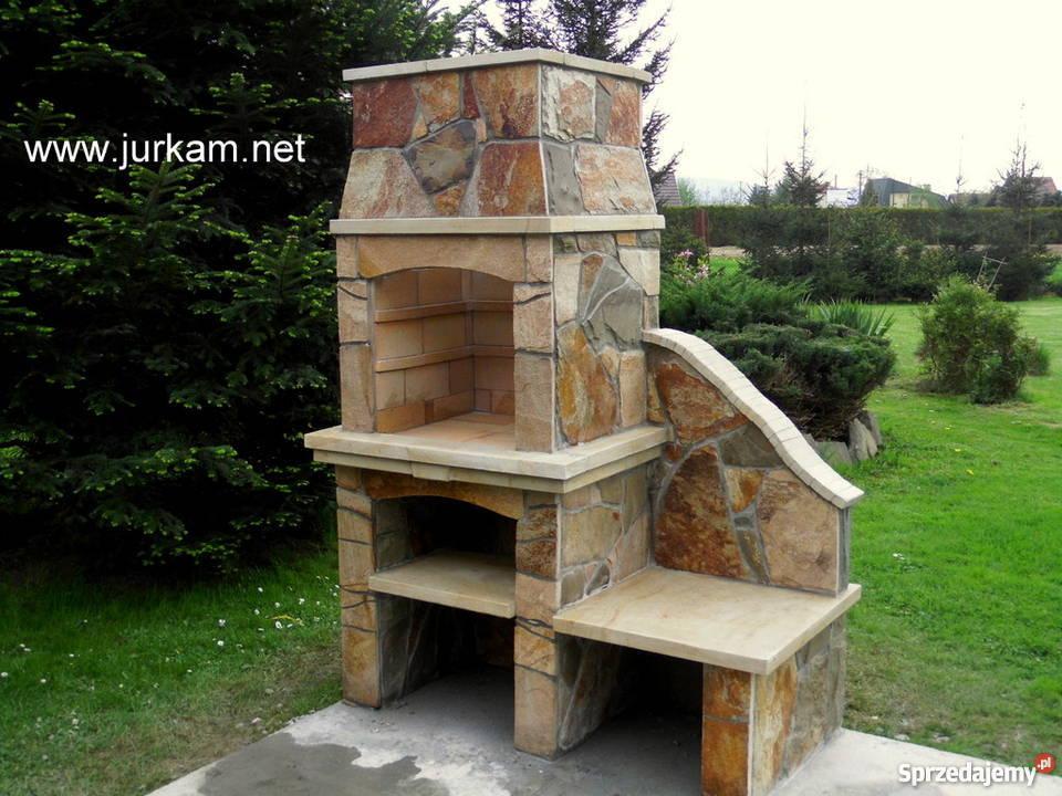 Nowoczesna architektura Grill z Kamienia Naturalnego,Grill ogrodowy, Kamień, Gril Nowy QS78