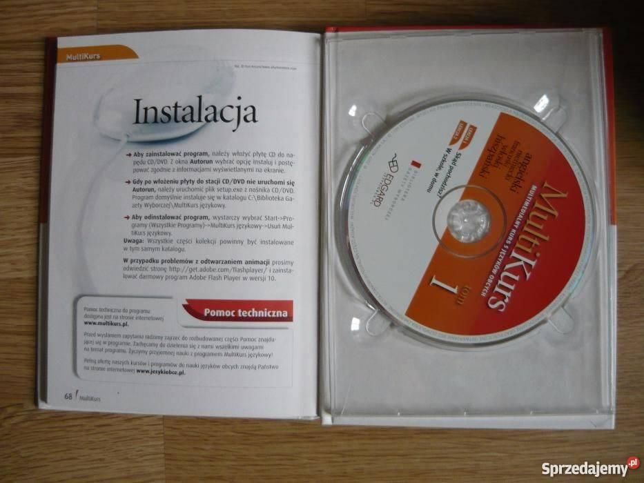 MULTIKURS 5 języków 10 książek z płytami mazowieckie Warszawa