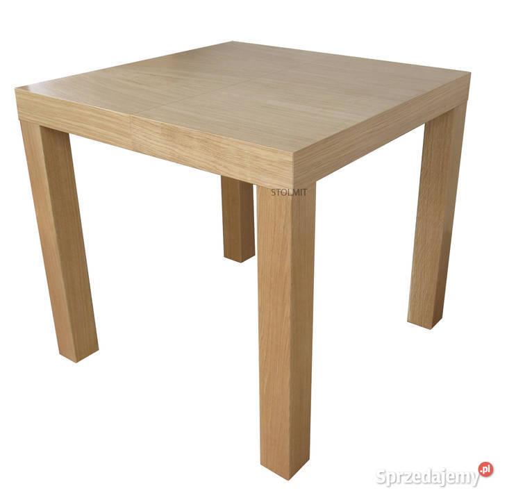 Kwadratowy stół rozkładany 90x90 lub 80x80 +50 na wymiar