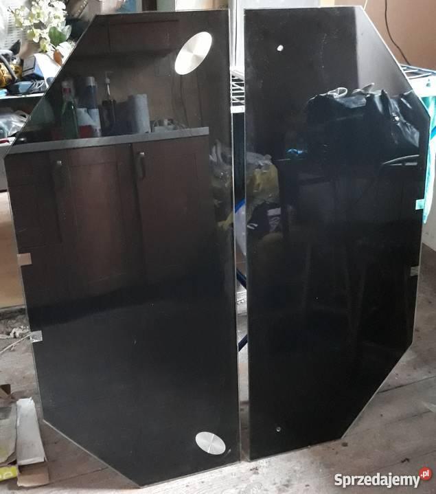 2 półki czarny szkło jysk
