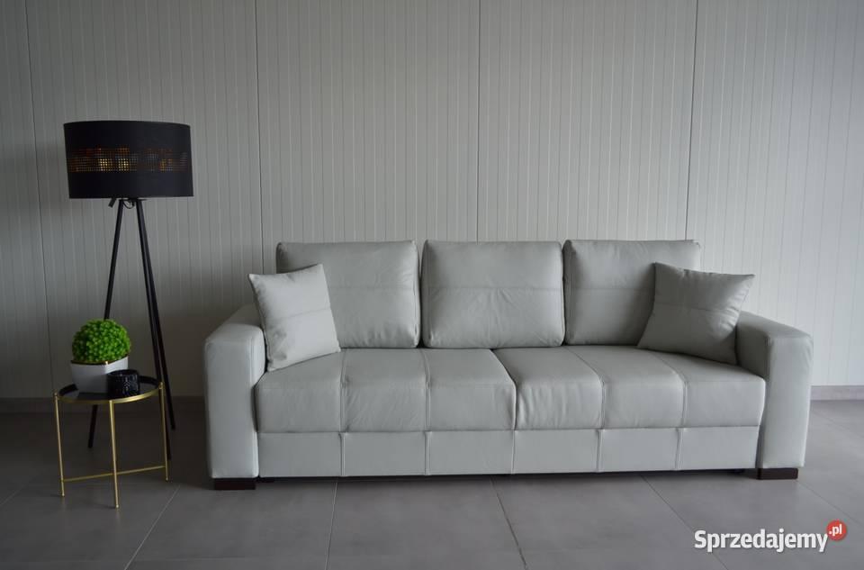 Producent! Sofa, kanapa rozkładana SENATOR, naturalna skóra