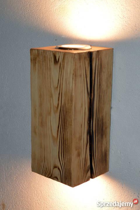 Kinkiet belka drewniana LED VINTAGE LOFT Oświetlenie Szczecin