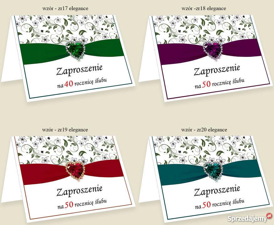 Zaproszenie Zaproszenia na 25 40 50 Rocznicę Dąbrowa Górnicza