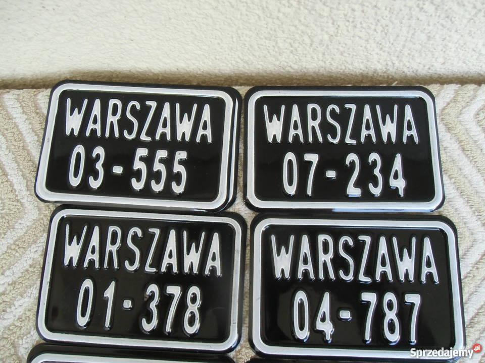 Tablice Rej do starych rowerów Replika tablic Warszawa