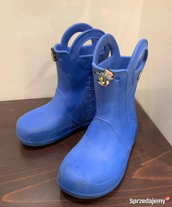 wyglądają dobrze wyprzedaż buty outlet na sprzedaż wylot online Niebieskie kalosze Crocs rozm. C10