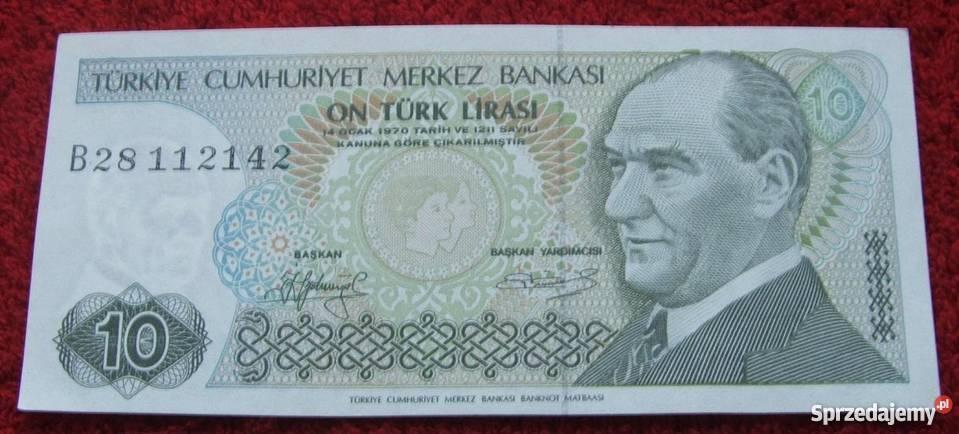 TURCJA 10 LIRASI 1970 Kolekcjonerski Banknot 1 Numizmatyka śląskie Katowice