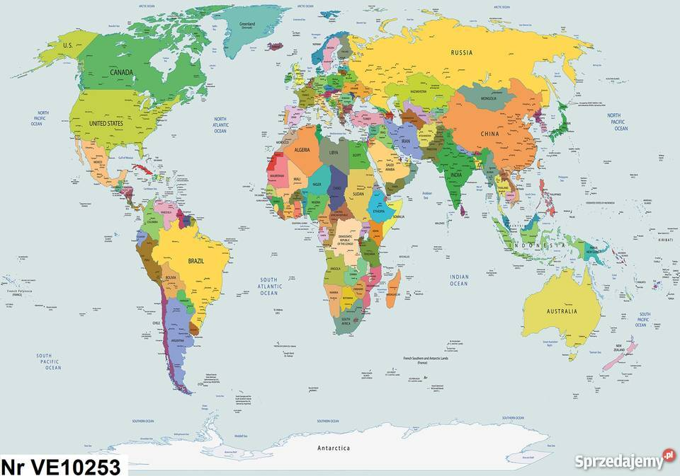 Tapeta Fototapeta Mapa Polityczna Mapa Swiata Leszno