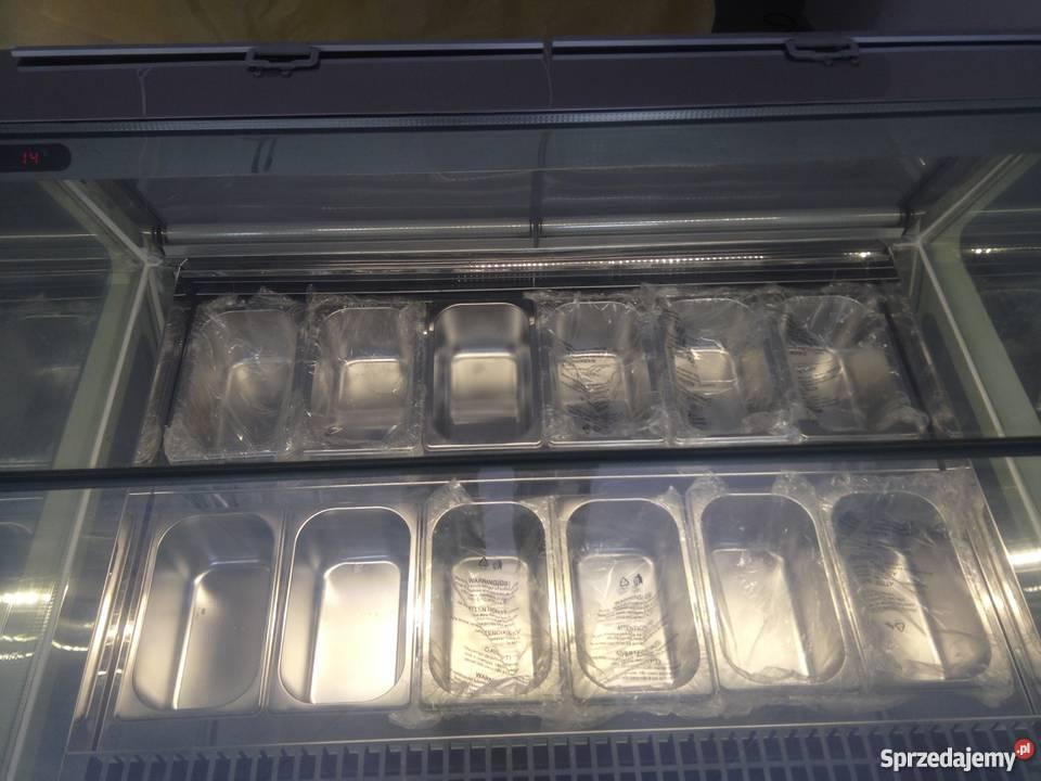 Nowa witryna lodziarka do sprzedaży lodów 12 Zielonka sprzedam