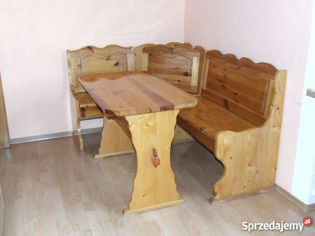 ława Narożna Drewniana I Stół