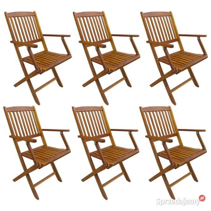 vidaXL Składane krzesła ogrodowe 276357