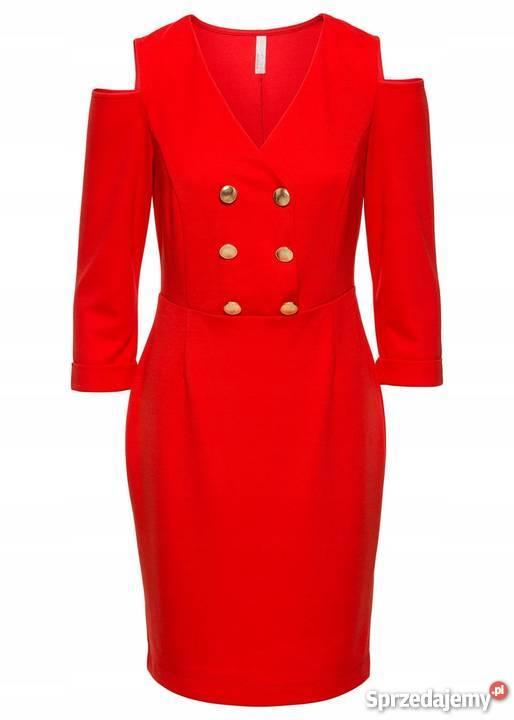 6ef2c497c4 B.p.c. czerwona sukienka z wycięciami guziki 40 42 Warszawa ...