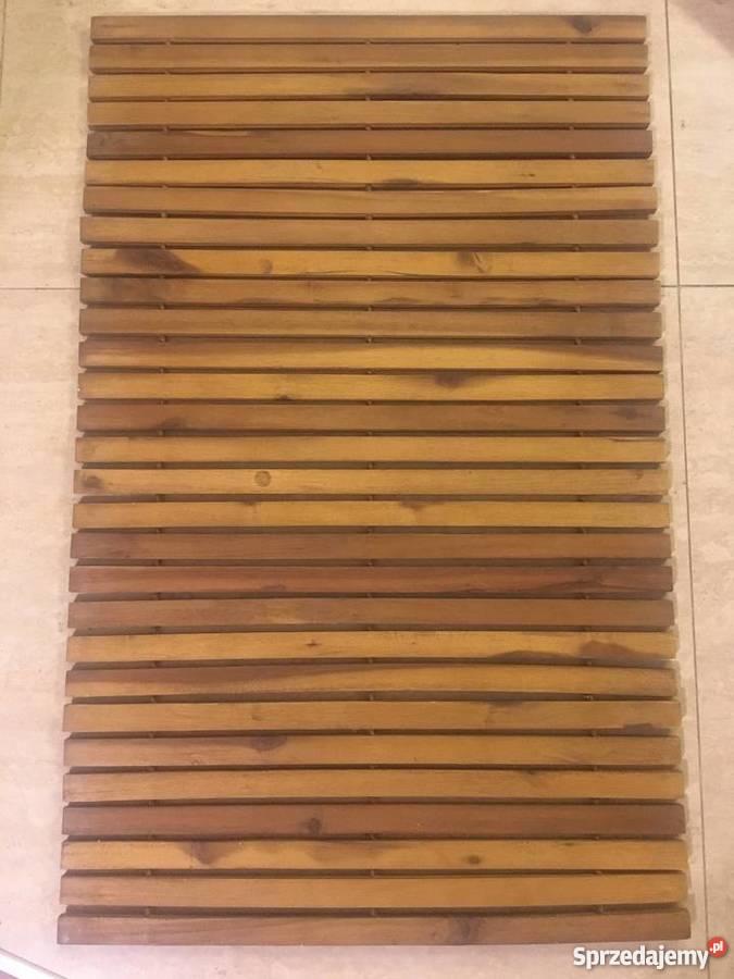 Mata łazienkowa Drewniana Drewno Akacjowe Olejowane