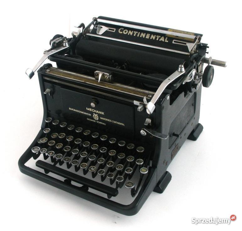 Maszyna do pisania continental Lublin
