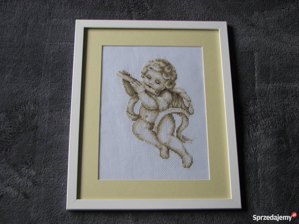 Aniołek haft krzyzykowy śląskie Czerwionka-Leszczyny