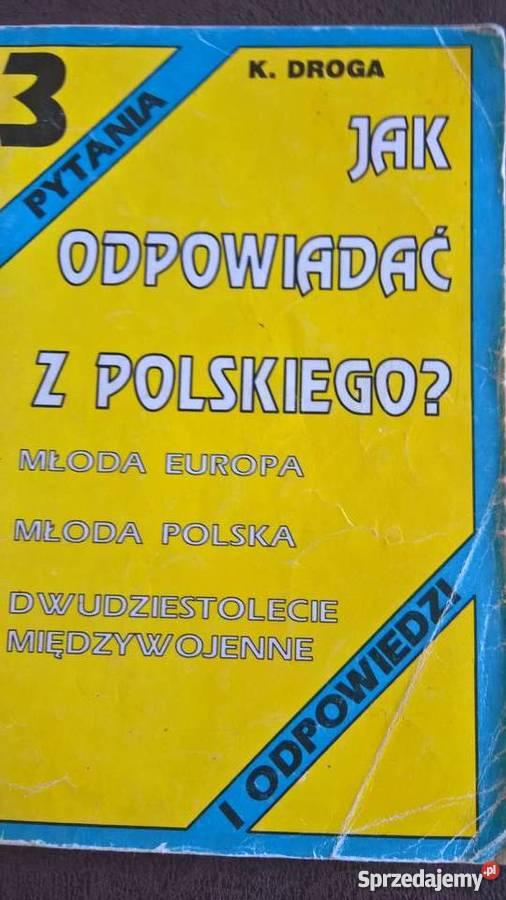 Młoda EuropaMłoda PolskaDwudziestolecie szkoła ponadgimnazjalna sprzedam