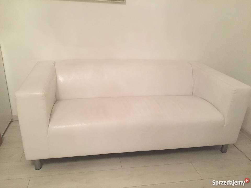 Dodatkowe Sofa biała skóra ekologiczna Warszawa - Sprzedajemy.pl GX59