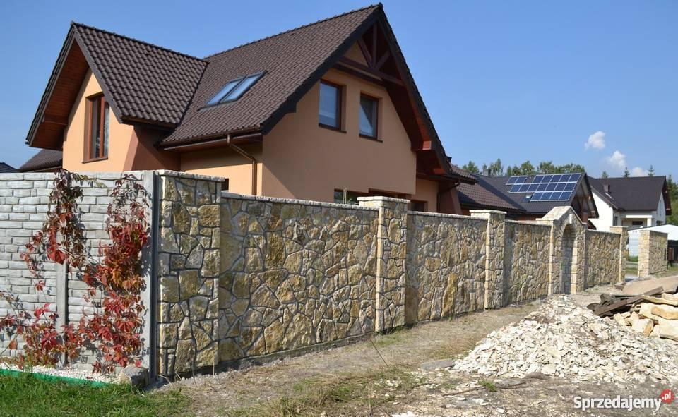 Bardzo dobra budowa ogrodzenia z kamienia - Sprzedajemy.pl KG61