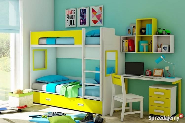 łóżko Piętrowe Dla Dzieci Solidne W Różnych Kolorach Szybko