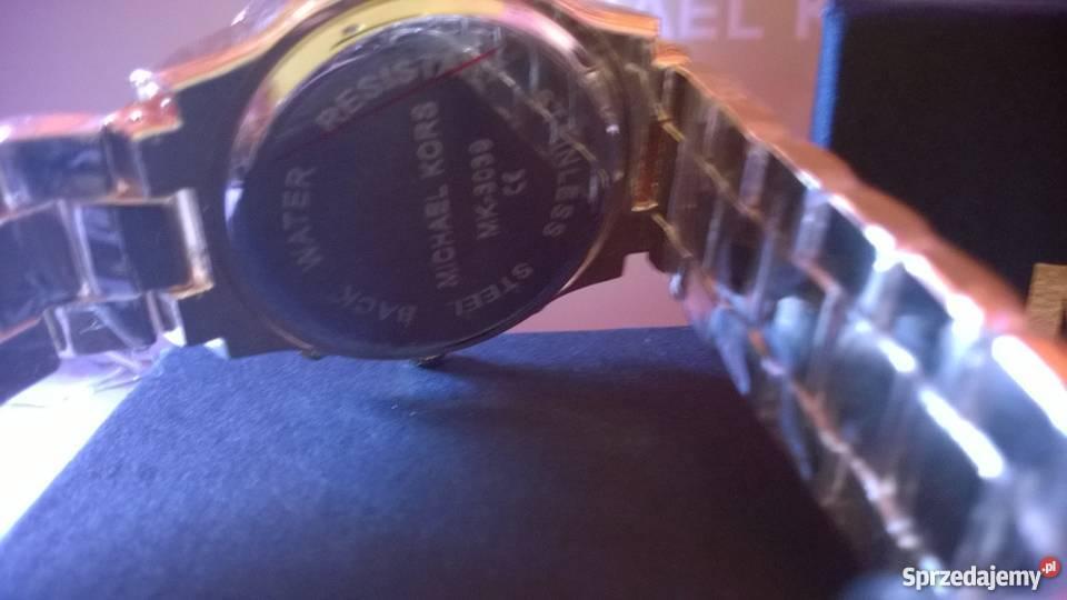 Michael kors zegarek damski limitowany złoty pudełko MK
