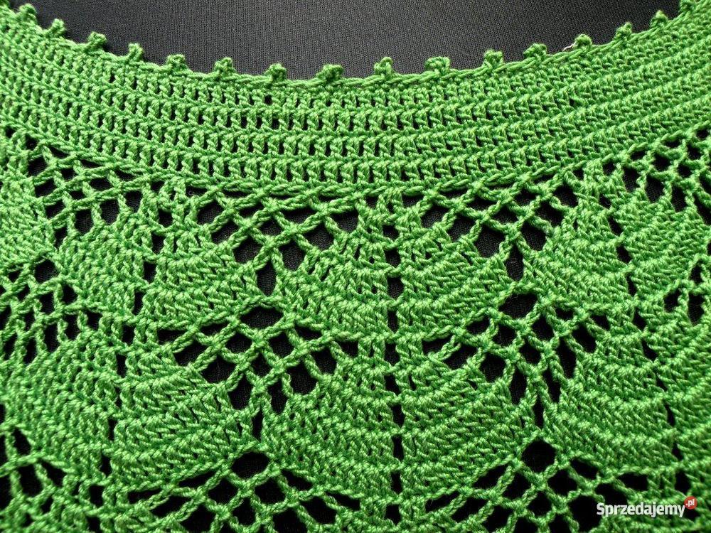 Zielona sukienka na szydełku handmade Warszawa