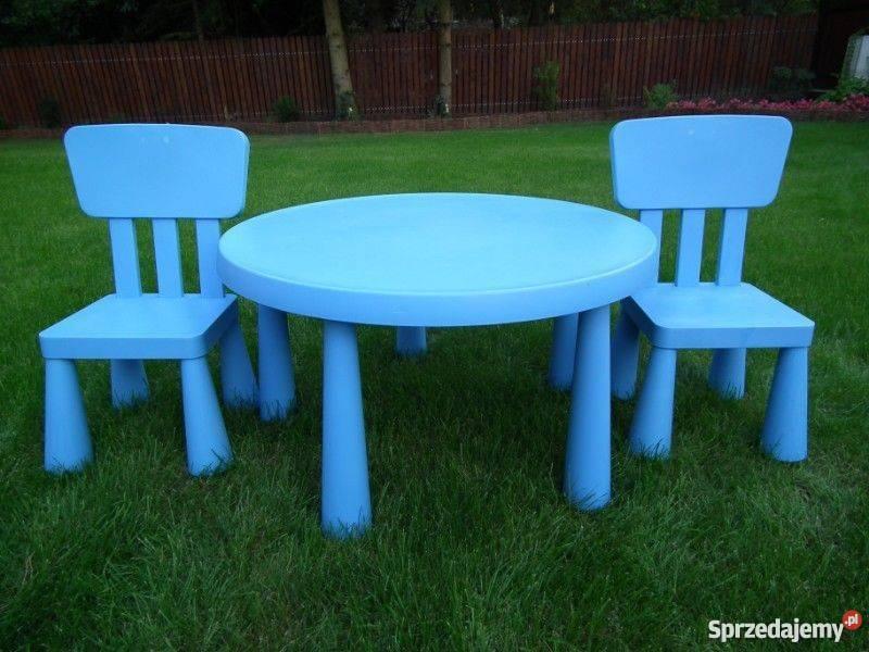 Stolik I 2 Krzesełka Mamut Ikea Użytkowane Cena 80 Zł