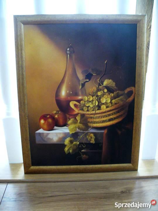 Obraz Obrazek Kuchenny Do Kuchni W Ramie Owoce I Wino