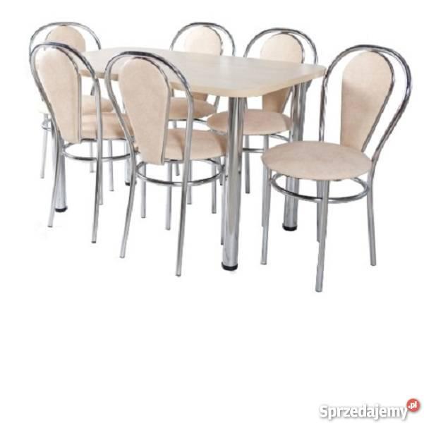 Zestaw kuchenny stół 70X120 + 6 krzesła Tul. Plus