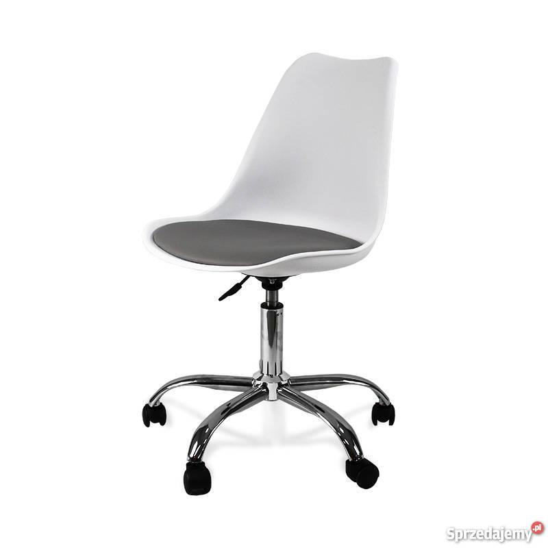 Krzesło biurowe obrotowe białe Promocja Gdańsk Sprzedajemy.pl