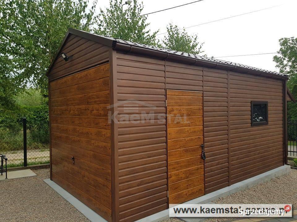 Garaż blaszany DREWNOPODOBNY imitacja drewna garaże blaszane