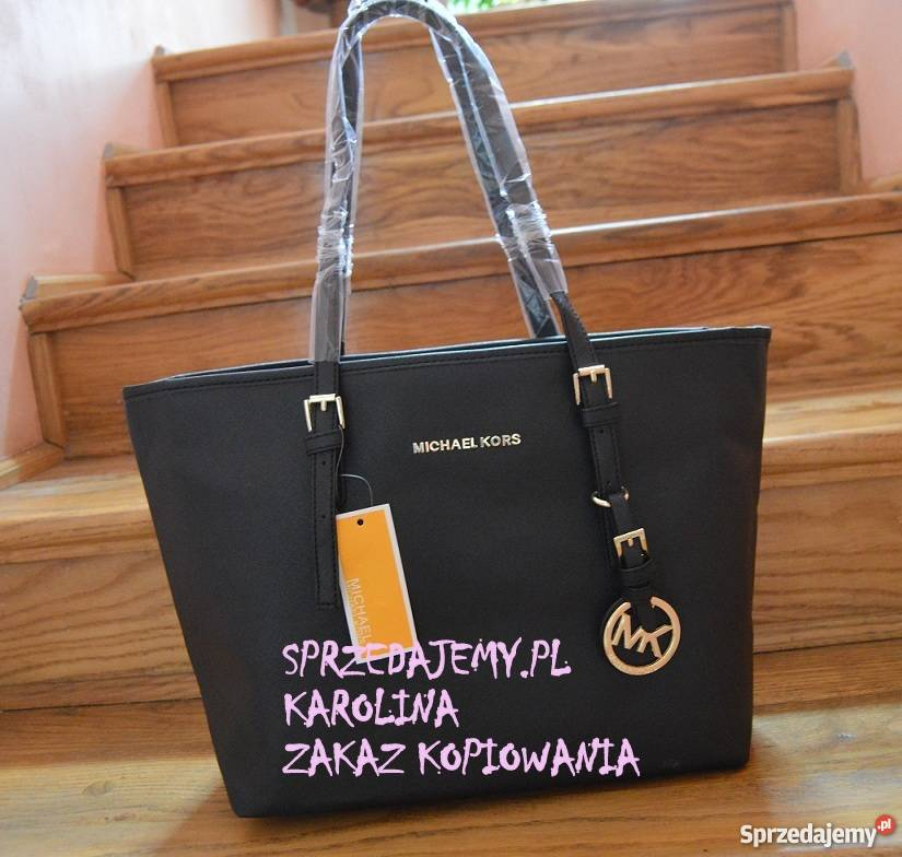 64f9d8d08e38d Czarna torebka Michael Kors model JET SET TRAVEL shopper Oleksze ...