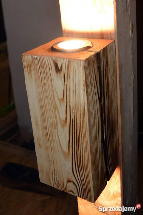 Kinkiet belka drewniana LED VINTAGE LOFT Oświetlenie Szczecin sprzedam