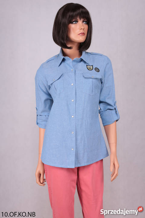 828a42b9 Bawełniana koszula z kieszonkami.
