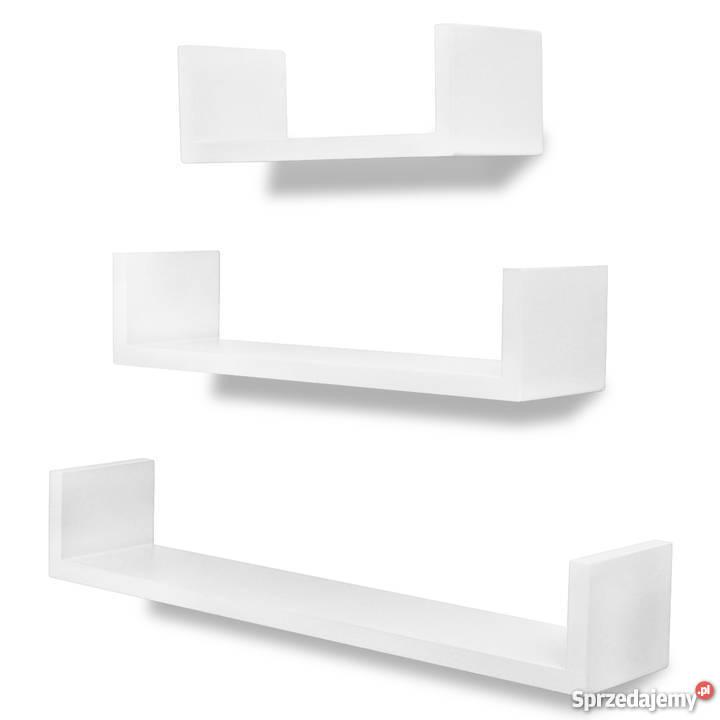 3 Białe Ozdobne Półki U 242174